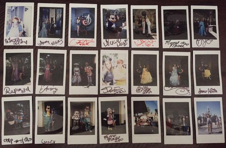 Some of my many Disneyland Polaroids these were from my trip on the 60th anniversary this year.