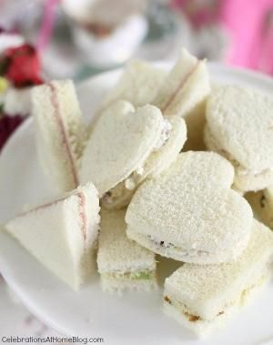 tea party sandwiches (recipes for various fillings) by dorothea