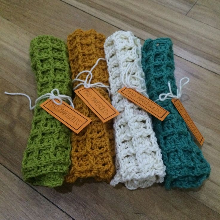 These wash cloths are crocheted in waffle stitch from 100percent cotton. They look almost edible.  They measure about 19cm square. A perfect gift idea to combo with a beautiful soap or bathroom product. Please see images for colour options.  Second image shows wash cloth laid flat. Listing price is for one wash cloth. These wash cloths (one in each colour) are available to ship within 3 working days.