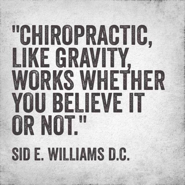 """""""La #chiropratica, che tu ci creda o no, è come la forza di gravità: Funziona!"""" #chiropratica_pescara"""