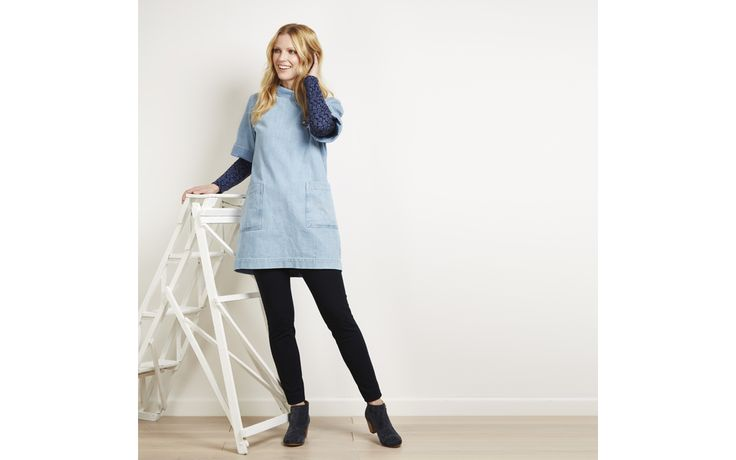 Roll Neck Denim Tunic - for when I'm painting seascapes in Cornwall!