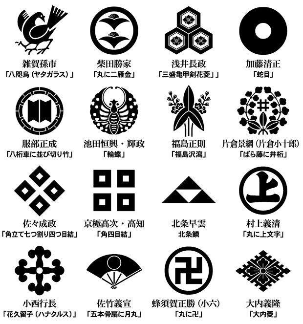 戦国武将家紋サコッシュ 家紋一覧 In 2020 Japanese Style