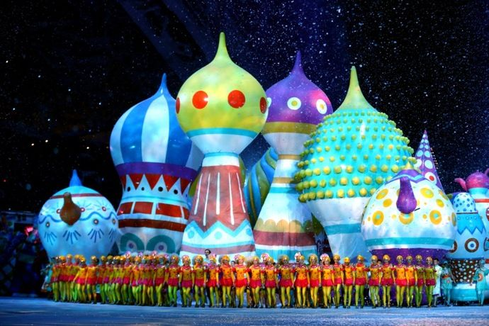 Pretty darn cute.....Самые яркие моменты церемонии открытия Олимпийских игр в Сочи 2014