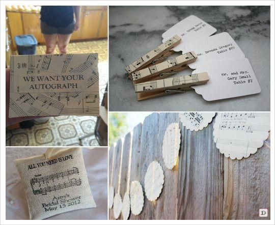 les 25 meilleures id es concernant mariage th me musique sur pinterest mariages th me de. Black Bedroom Furniture Sets. Home Design Ideas