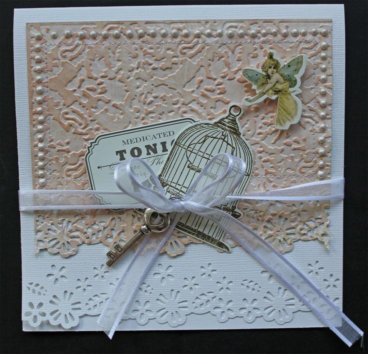 Kottens corner: Cards  Pink Paislee Butterfly Garden