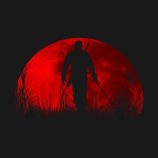 Awesome 'Red+moon' design on TeePublic!