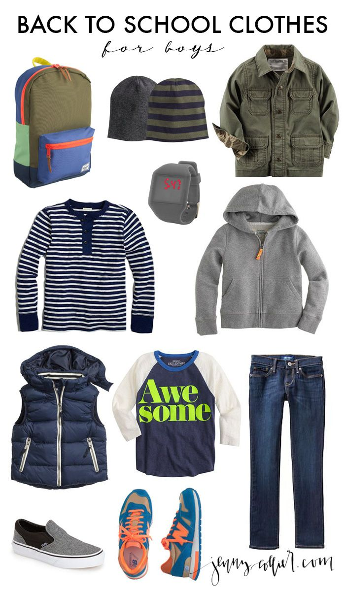 Back to School Clothes - http://jennycollier.com/back-to-school-clothes/