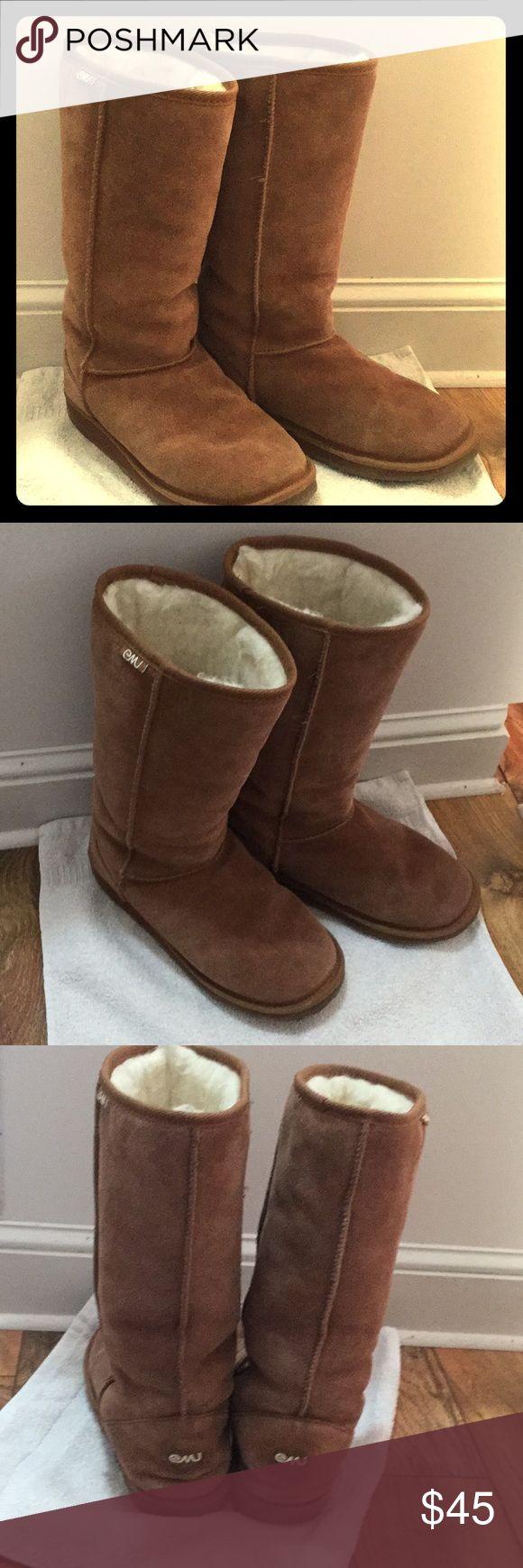 ⭐️WINTER SALE⭐️ Tall Emu Boots Tall Emu Boots Tan Inside is still fluffy Very little wear Emu Shoes Winter & Rain Boots