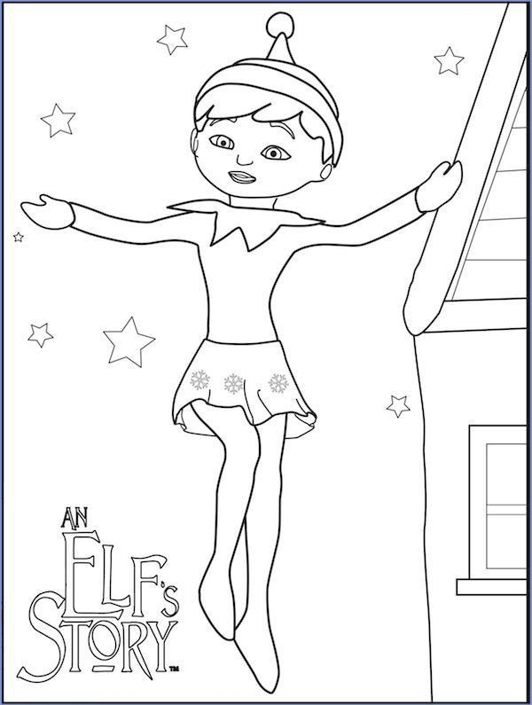 Elf On The Shelf Coloring Little Lids Siobhan Elf On The Shelf Colouring Pages With In 2020 Christmas Coloring Pages Coloring Pages Inspirational Super Coloring Pages