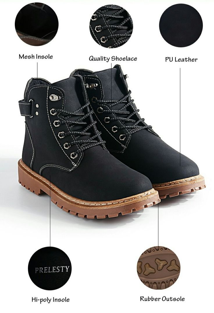 US $28.48 <Click to buy> Prelesty Brand Keep Warm Men Winter Army Boots High Top Men Work & Safety Resisting Boots Waterproof Lace-up Male