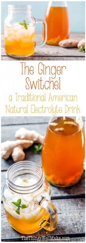 A Natural Electrolyte Drink Recipe: The Ginger Switchel 12345 CourseBeverages Cuisinesummer Special DietDairy Free, Gluten Free, Grain Free, Paleo Servings 1 quart Ingredients 1/8 cup maple syrup 1/4 cup apple cider vinegar 1 inch ginger root 1 Tbsp. molasses