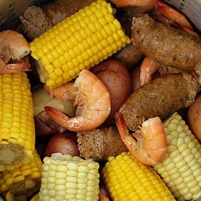 Cajun Shrimp Boil ~ learn how to do a do a Louisiana-style boil with extra-large shrimp, sweet Andouille sausage, fresh corn and new potatoes. Technically, there is no grill involved, but we boil up in a large drum over a gas ring for a crowd. It's Louisiana barbeque fare.