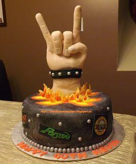 Rocker Band cake https://www.facebook.com/pages/Sarahs-Custom-Cakes-InnisfilBarrie/457904854228194