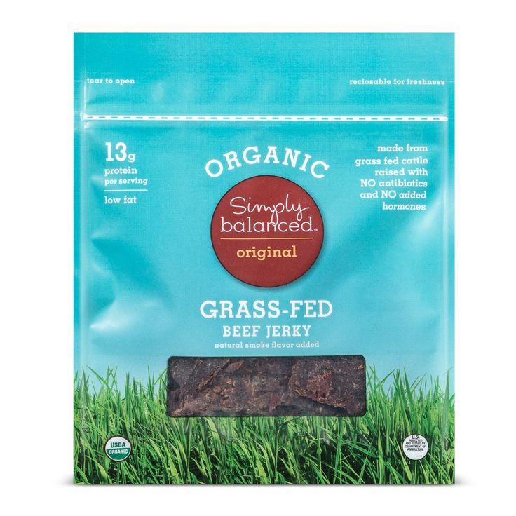 Organic Grass Fed Beef Jerky - Simply Balanced
