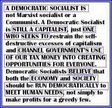 What it means to be a democratic socialist...Bernie Sanders 2016!