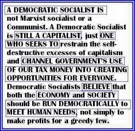 What it means to be a democratic socialist...Bernie Sanders 2016!