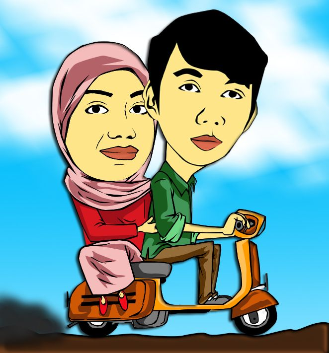 My sister and her Lovely with choco scooter