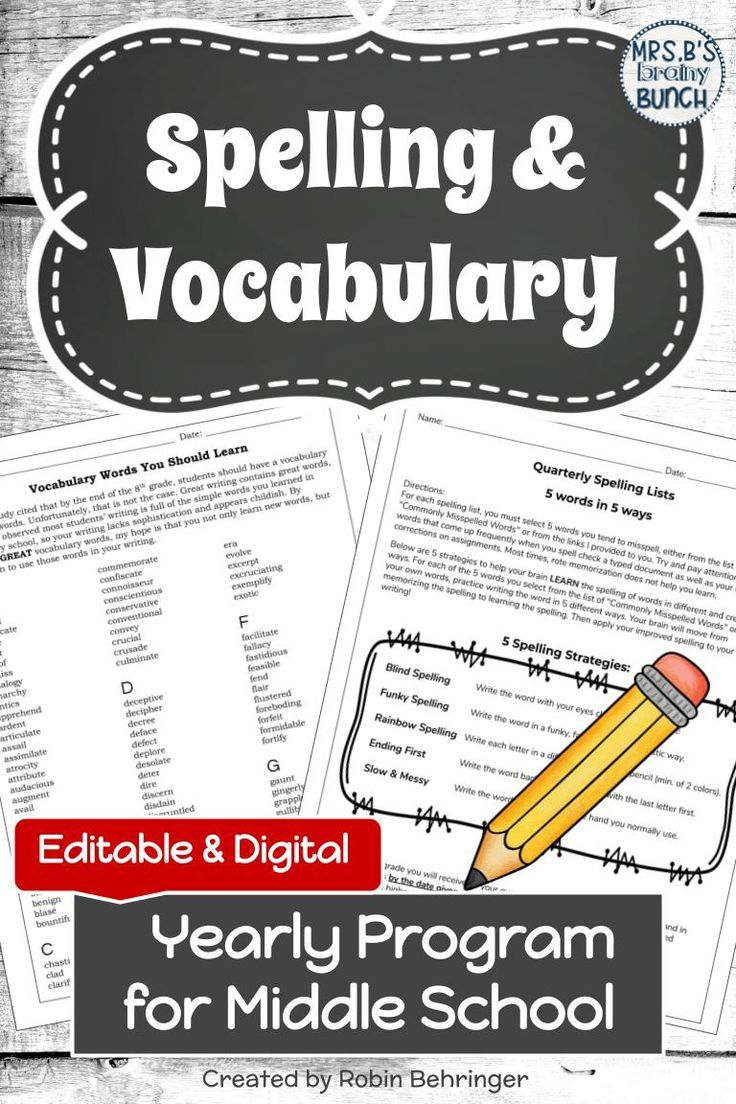 These Engaging Activities For Teaching Spelling And Vocabulary Are Editable And Digit Middle School Vocabulary Vocabulary Middle School Language Arts Classroom [ 1104 x 736 Pixel ]