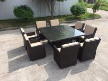 CAPRI 8 személyes exkluzív műrattan étkező garnitúra kerti bútor