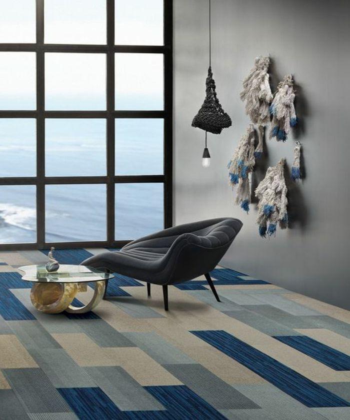 moquette pas cher design moderne beige bleu