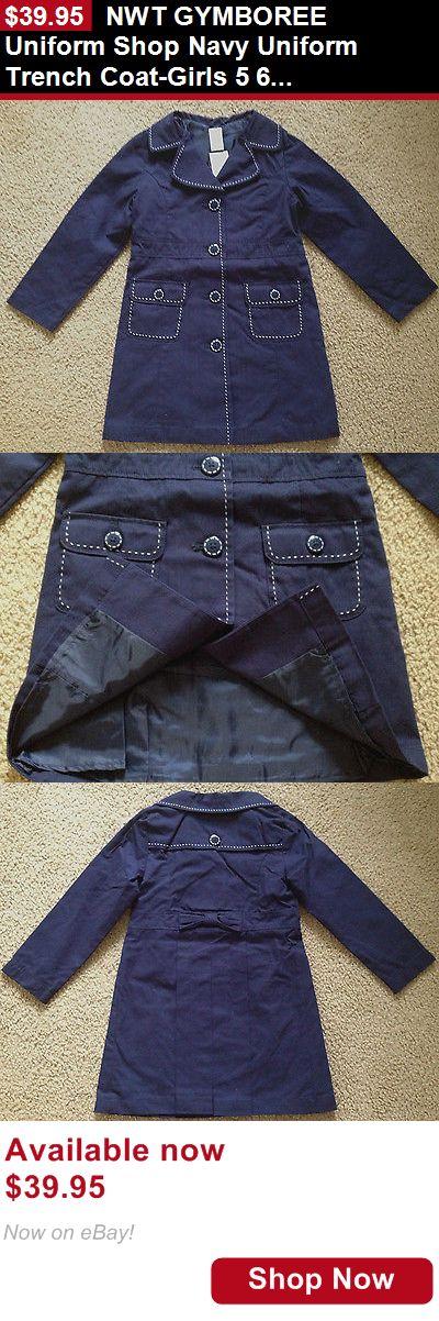 Girls Uniforms: Nwt Gymboree Uniform Shop Navy Uniform Trench Coat-Girls 5 6 S New BUY IT NOW ONLY: $39.95