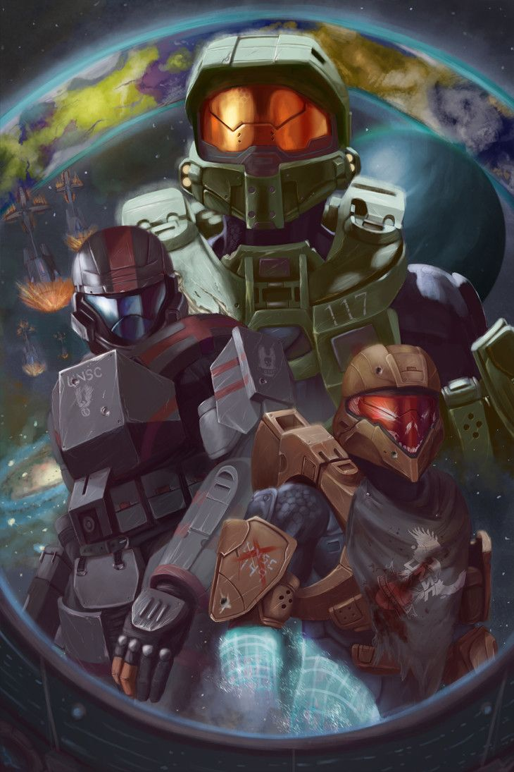 Halo 3: ODST promotional work by Isaac Hannaford on ArtStation.