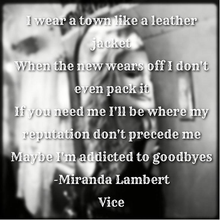 Vice lyrics Miranda Lambert