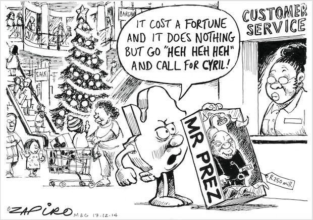 Zuma - The High Cost of Mr. Prez published in Mail & Guardian on 19 Dec 2014