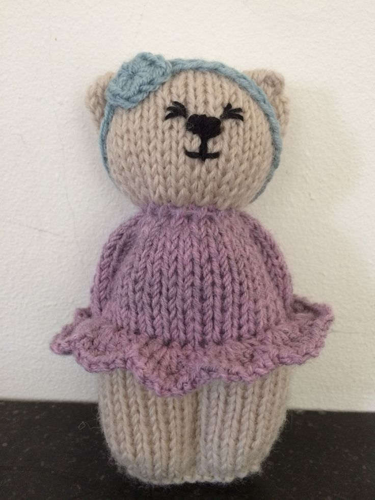Cute Lil Knitted Teddy Bear In A Sweater Teddy Bear