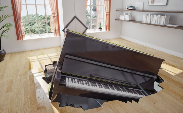 When you hire an non-experienced piano mover, you might learn an expensive lesson. This photo represents the chaos that inexperienced  can cause to your house. Don't be left with the bill for a job done wrong. Moving piano's requires skills, not luck.  http://buff.ly/1tplDwn  #PianoMovingServices #BestPianoMover #PianoMovingCompany #HonestPianoMover #AncasterPianoMover #StoneyCreekPianoMover #BurlingtonPianoMover