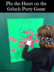How the Grinch Stole Christmas Party - Pin the heart on the Grinch party game