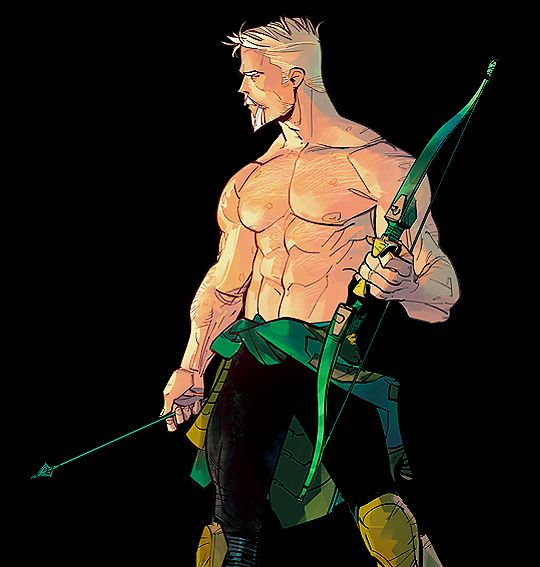 *flatlines* what is art? THIS is art. Oliver Queen by Otto Schmidt (one of my favorite artists)
