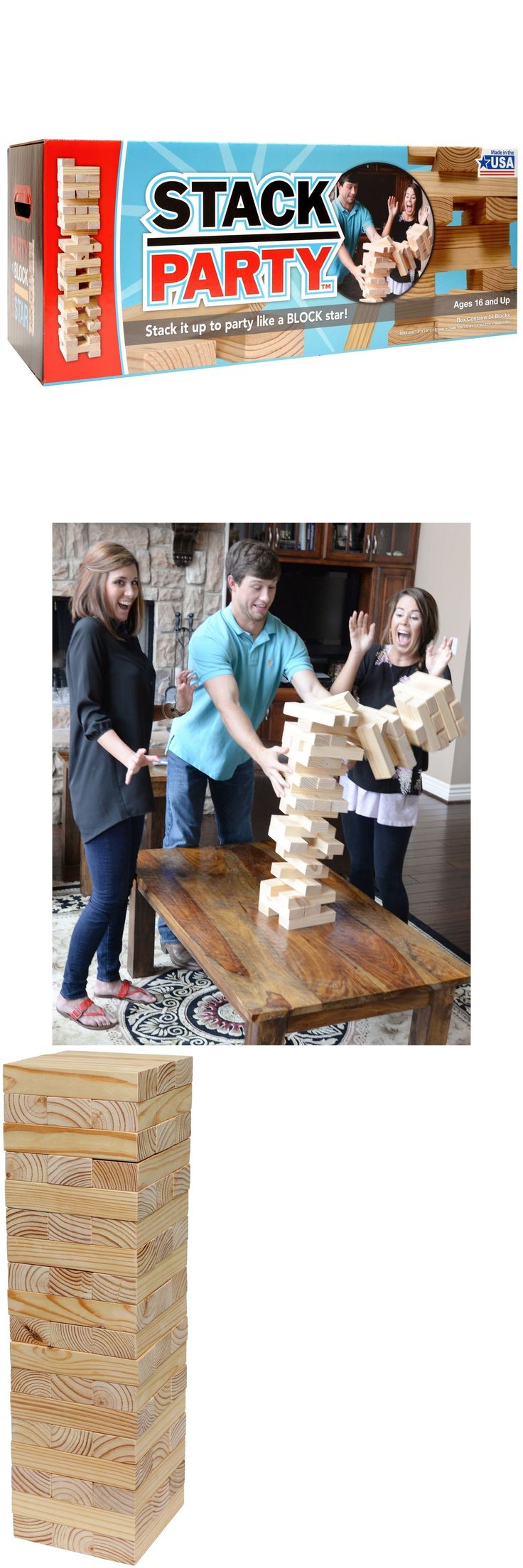 Other Backyard Games 159081: Stack Party - Giant Tumbling Tower Game BUY IT NOW ONLY: $64.99