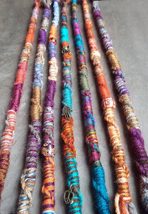 1 Jumbo Twisted Bohemian Charm Hair Wrap by PurpleFinchStore