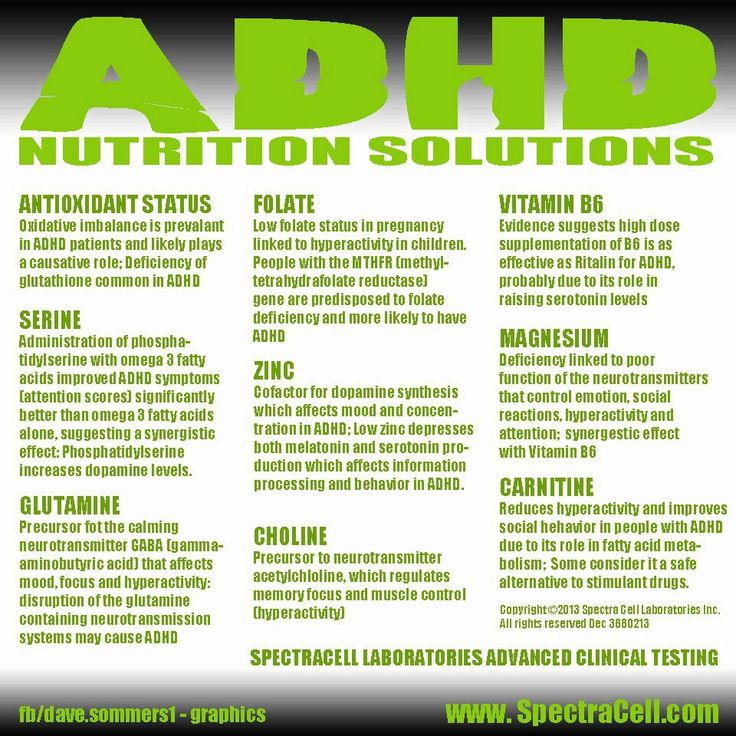 ADHD and neurotransmitters. Vitamin B6 made it especially interesting. **SVD**