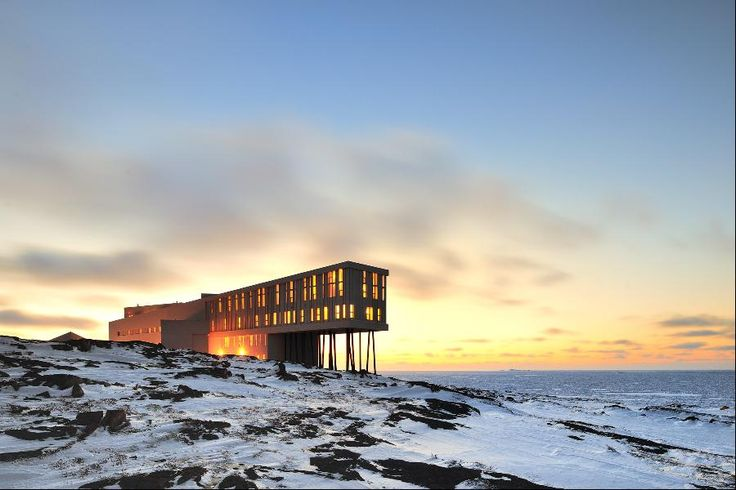 Fogo Island Inn is in Newfoundland