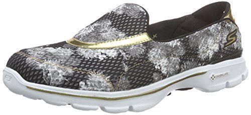 Skechers Damen GO Walk 3Gold Rush Sneakers - http://on-line-kaufen.de/skechers/skechers-go-walk-3-gold-rush-damen-sneakers
