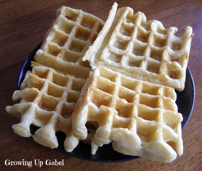 Simple Waffle Recipe - Growing Up Gabel