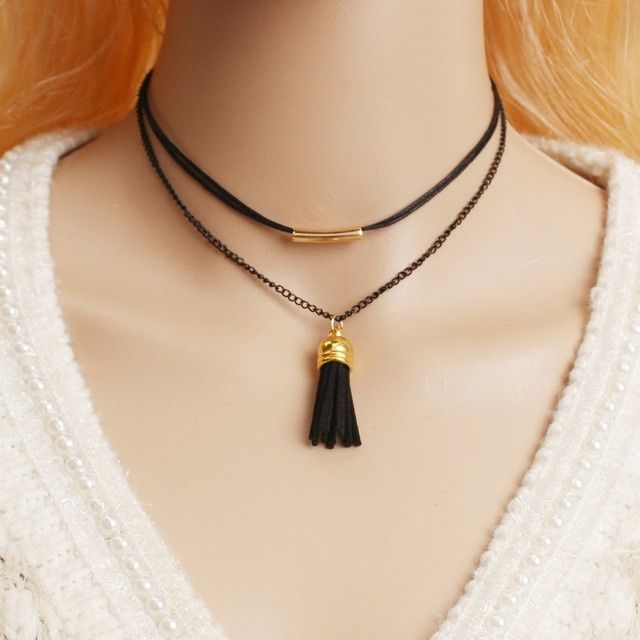 Double Layer Choker Necklace Set