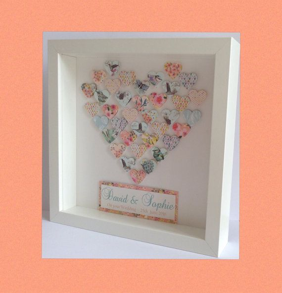 personalised wedding engagement frame
