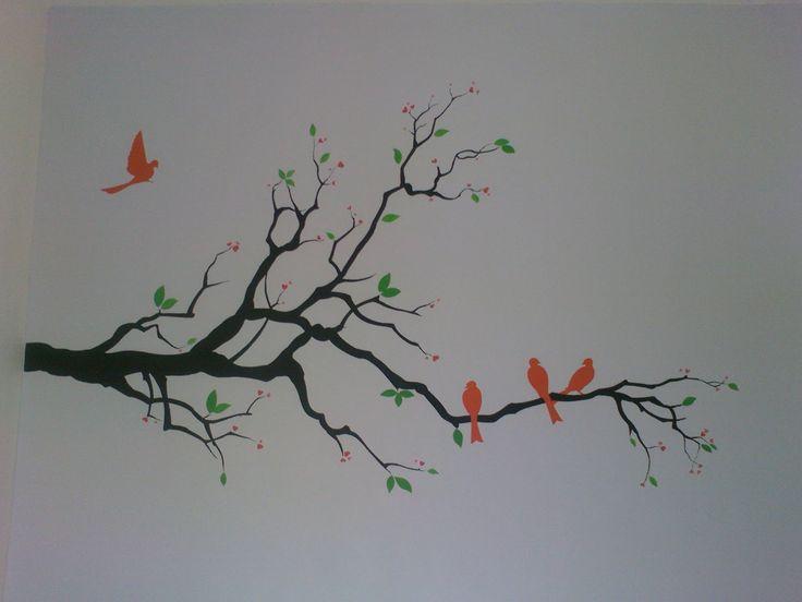 Simple art paintings painting or lukisan for Easy wall mural