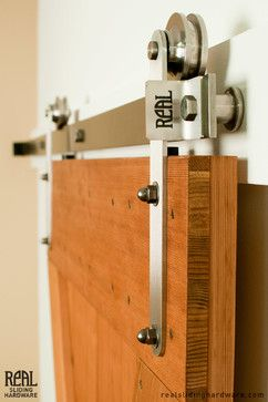 Stainless Prop Style Barn Door Hardware   Modern   Hardware   Other Metro    By Real