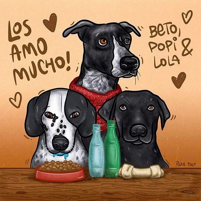 #first #prize #winner #lucky #dog #portrait #pilarpoloilustra #doglover #pets