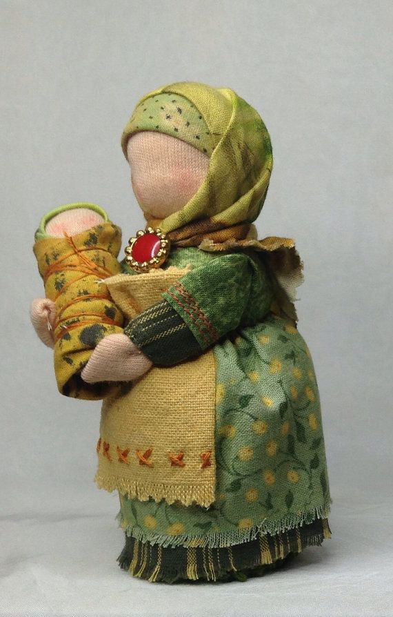 Waldorf Mama doll with baby