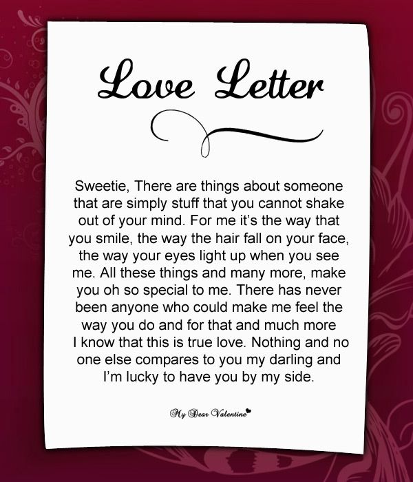 a love letter to my girlfriend