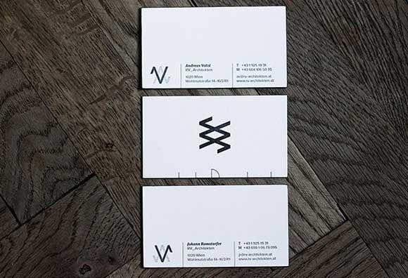 RV Architekten 34 Architects Business Card Designs