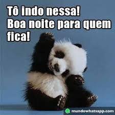 mensagem de boa noite engraçado panda