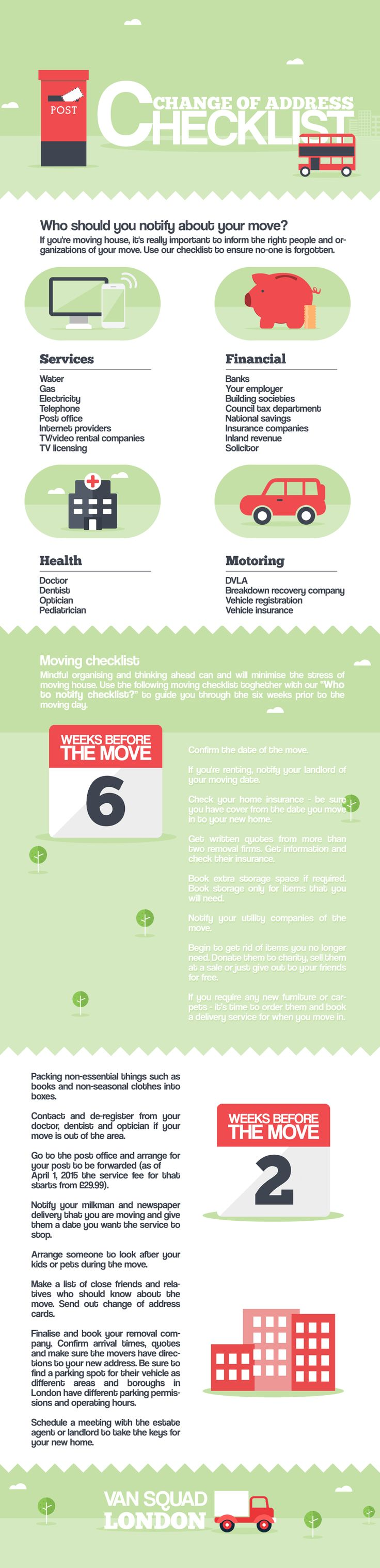 Change of Address Checklist Infographic                                                                                                                                                                                 More