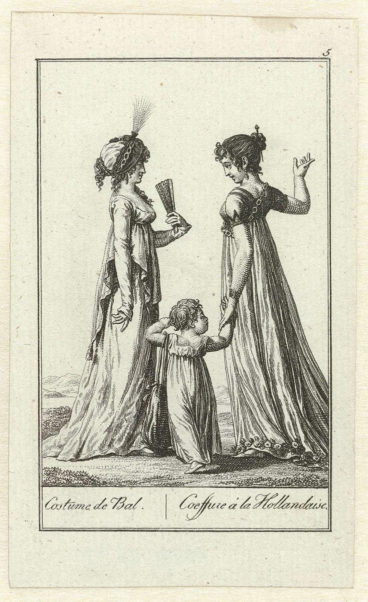 Almanakprentje uit ca. 1799, kopie naar Journal des Dames et des Modes: Costume de Bal / Coeffure à la Hollandaise, Anonymous, c. 1799