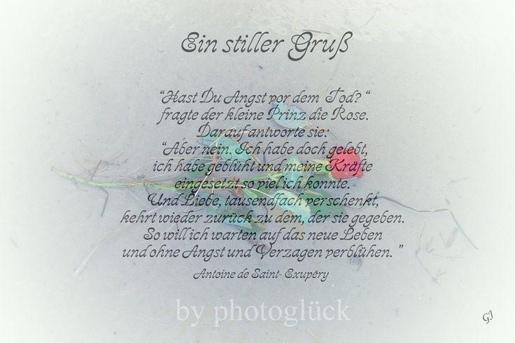 """Trauer & Beileid - Trauerkarte Beileidskarte """"Rose am Strand&... - ein Designerstück von Gabriele-Jentsch bei DaWanda"""
